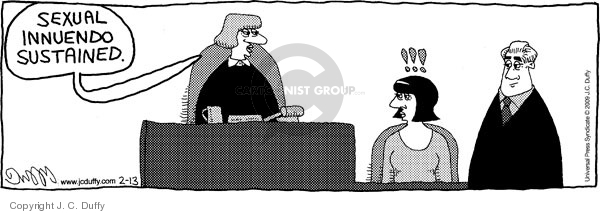 Cartoonist J.C. Duffy  Fusco Brothers 2009-02-13 innuendo