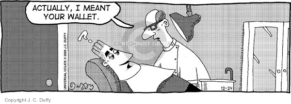 Comic Strip J.C. Duffy  Fusco Brothers 2009-12-24 dentistry
