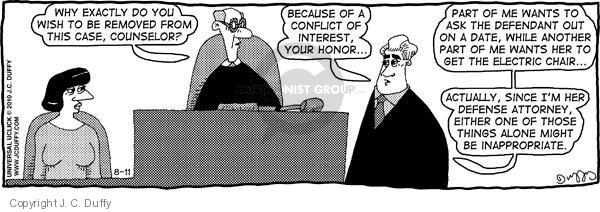 Comic Strip J.C. Duffy  Fusco Brothers 2010-08-11 conflict of interest