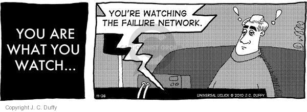 Comic Strip J.C. Duffy  Fusco Brothers 2010-11-26 television viewer