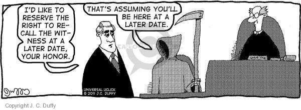Comic Strip J.C. Duffy  Fusco Brothers 2011-01-31 courtroom