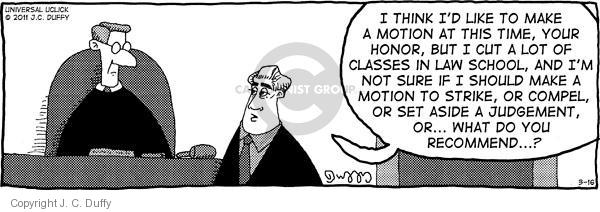 Comic Strip J.C. Duffy  Fusco Brothers 2011-03-16 courtroom