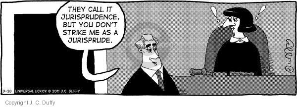 Comic Strip J.C. Duffy  Fusco Brothers 2011-03-28 courtroom