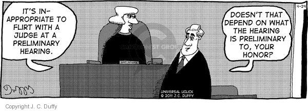 Comic Strip J.C. Duffy  Fusco Brothers 2011-04-29 courtroom