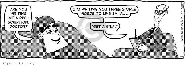 Comic Strip J.C. Duffy  Fusco Brothers 2011-11-04 therapy
