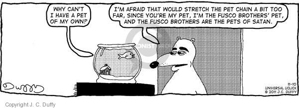 Comic Strip J.C. Duffy  Fusco Brothers 2011-11-10 afraid