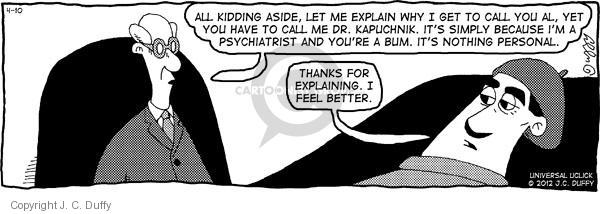Comic Strip J.C. Duffy  Fusco Brothers 2012-04-10 therapy