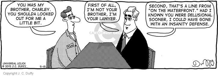 Comic Strip J.C. Duffy  Fusco Brothers 2012-05-15 counsel