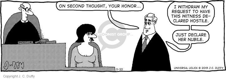 Comic Strip J.C. Duffy  Fusco Brothers 2013-02-20 second thought