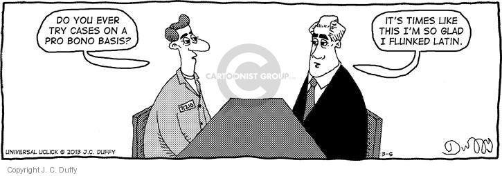 Comic Strip J.C. Duffy  Fusco Brothers 2013-03-06 counsel