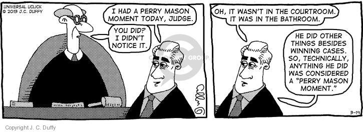 Comic Strip J.C. Duffy  Fusco Brothers 2013-03-19 television show