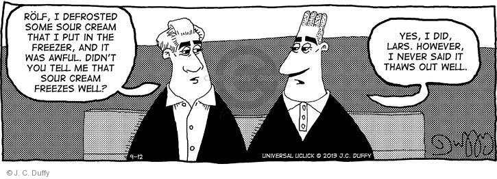 Comic Strip J.C. Duffy  Fusco Brothers 2013-09-12 out