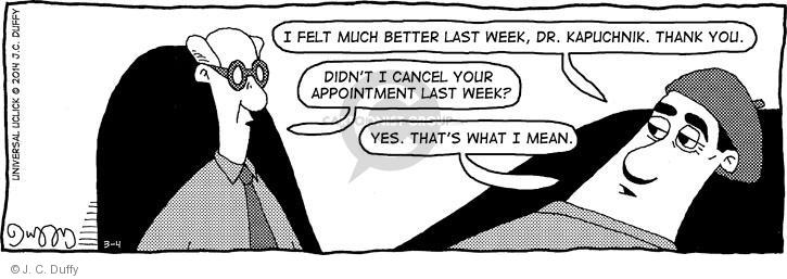 Comic Strip J.C. Duffy  Fusco Brothers 2014-03-04 therapy
