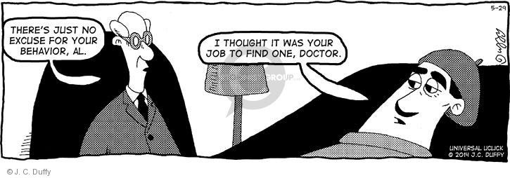 Comic Strip J.C. Duffy  Fusco Brothers 2014-05-29 therapy