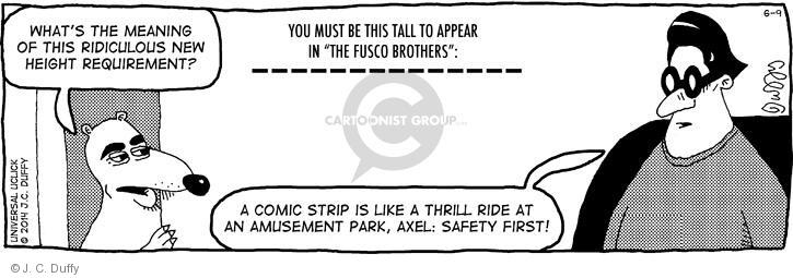 Comic Strip J.C. Duffy  Fusco Brothers 2014-06-09 new rule