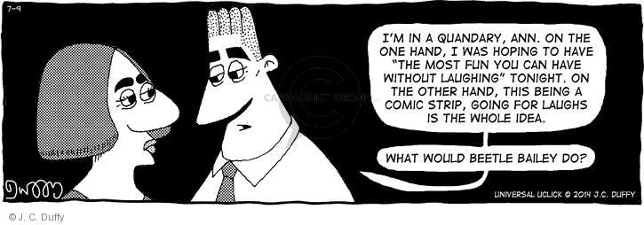 Comic Strip J.C. Duffy  Fusco Brothers 2014-07-09 on the other hand