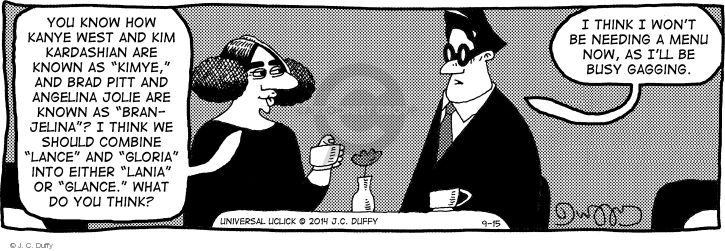 Comic Strip J.C. Duffy  Fusco Brothers 2014-09-15 media