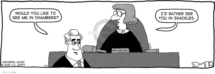 Comic Strip J.C. Duffy  Fusco Brothers 2015-05-05 courtroom