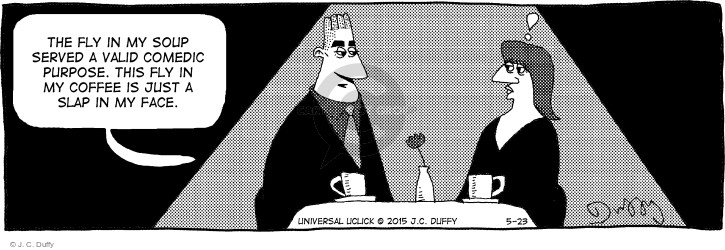 Cartoonist J.C. Duffy  Fusco Brothers 2015-05-23 eating out
