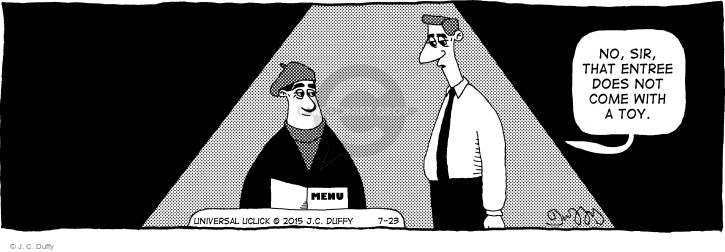 Cartoonist J.C. Duffy  Fusco Brothers 2015-07-23 eating out