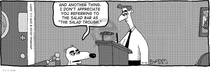 Comic Strip J.C. Duffy  Fusco Brothers 2015-09-12 out