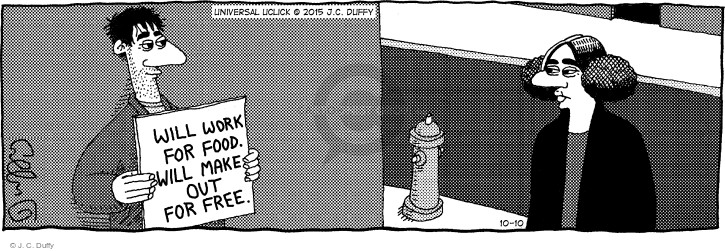 Comic Strip J.C. Duffy  Fusco Brothers 2015-10-10 out