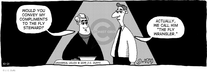 Cartoonist J.C. Duffy  Fusco Brothers 2015-10-21 eating out
