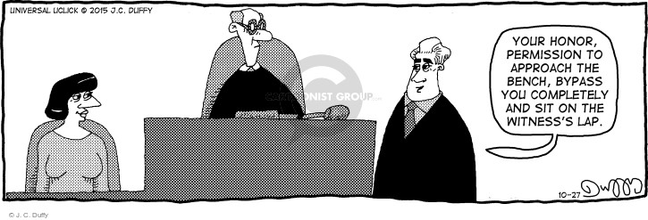 Comic Strip J.C. Duffy  Fusco Brothers 2015-10-27 courtroom