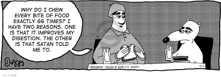 Comic Strip J.C. Duffy  Fusco Brothers 2015-11-04 every