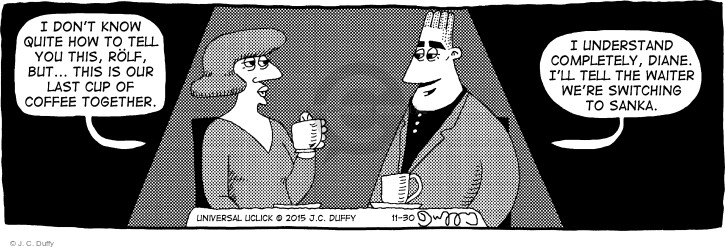 Cartoonist J.C. Duffy  Fusco Brothers 2015-11-30 coffee cup