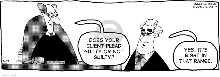 Does your client plead guilty or not guilty? Yes. Its right in that range.