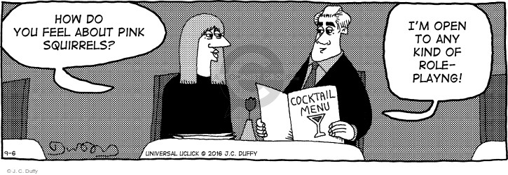 Comic Strip J.C. Duffy  Fusco Brothers 2016-09-06 cocktail