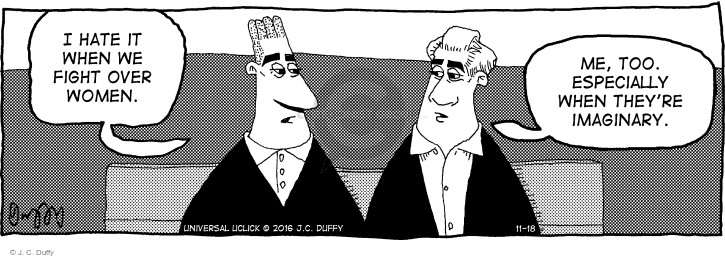 Comic Strip J.C. Duffy  Fusco Brothers 2016-11-18 female