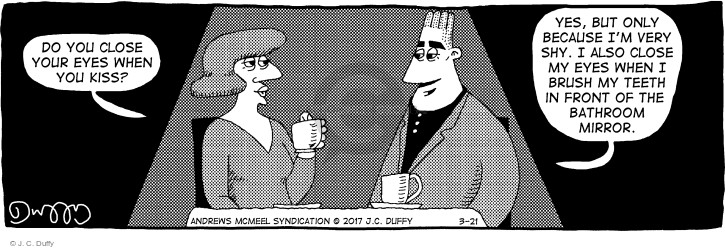 Comic Strip J.C. Duffy  Fusco Brothers 2017-03-21 kiss