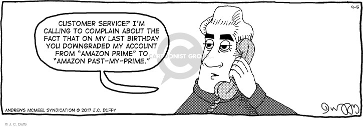 Comic Strip J.C. Duffy  Fusco Brothers 2017-09-05 birthday
