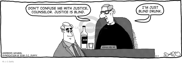 Comic Strip J.C. Duffy  Fusco Brothers 2018-02-01 drink alcohol