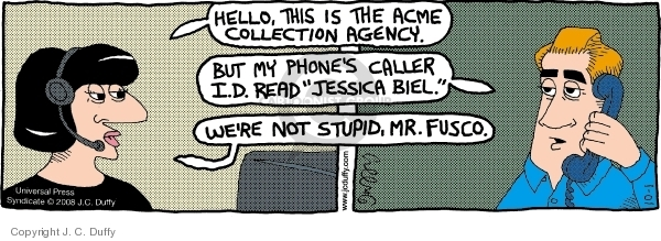 Comic Strip J.C. Duffy  Fusco Brothers 2008-10-01 actress