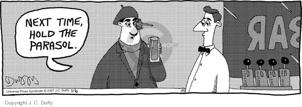 Comic Strip J.C. Duffy  Fusco Brothers 2007-01-06 cocktail