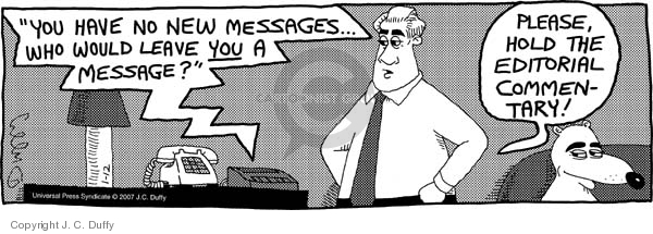 Comic Strip J.C. Duffy  Fusco Brothers 2007-01-12 voicemail