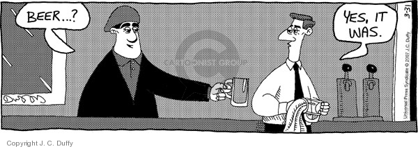 Comic Strip J.C. Duffy  Fusco Brothers 2007-03-31 drink alcohol
