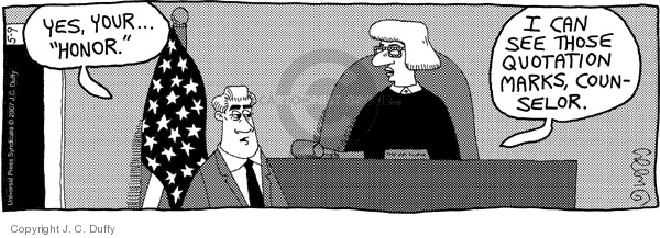 Comic Strip J.C. Duffy  Fusco Brothers 2007-05-09 courtroom