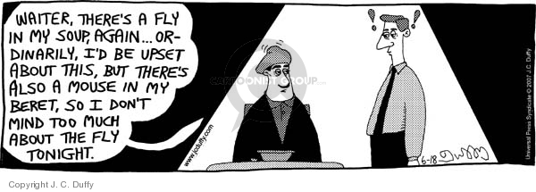 Comic Strip J.C. Duffy  Fusco Brothers 2007-06-18 waiter