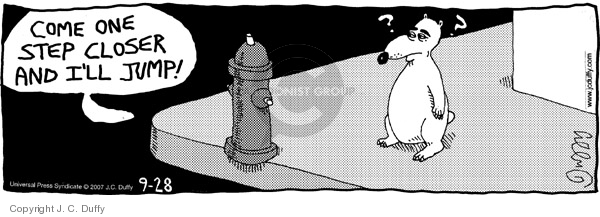 Comic Strip J.C. Duffy  Fusco Brothers 2007-09-28 fire hydrant