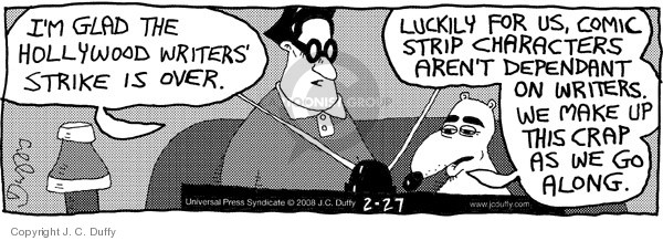 Comic Strip J.C. Duffy  Fusco Brothers 2008-02-27 along