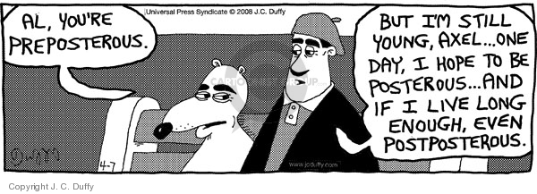 Comic Strip J.C. Duffy  Fusco Brothers 2008-04-07 day