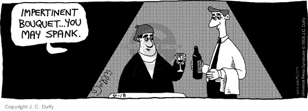 Comic Strip J.C. Duffy  Fusco Brothers 2008-04-18 waiter