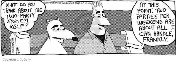 Comic Strip J.C. Duffy  Fusco Brothers 2008-06-24 republican