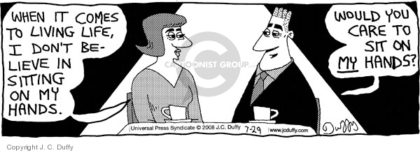Comic Strip J.C. Duffy  Fusco Brothers 2008-07-29 male