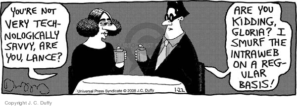 Cartoonist J.C. Duffy  Fusco Brothers 2008-01-22 technology