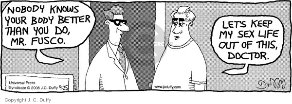 Comic Strip J.C. Duffy  Fusco Brothers 2008-09-25 patient